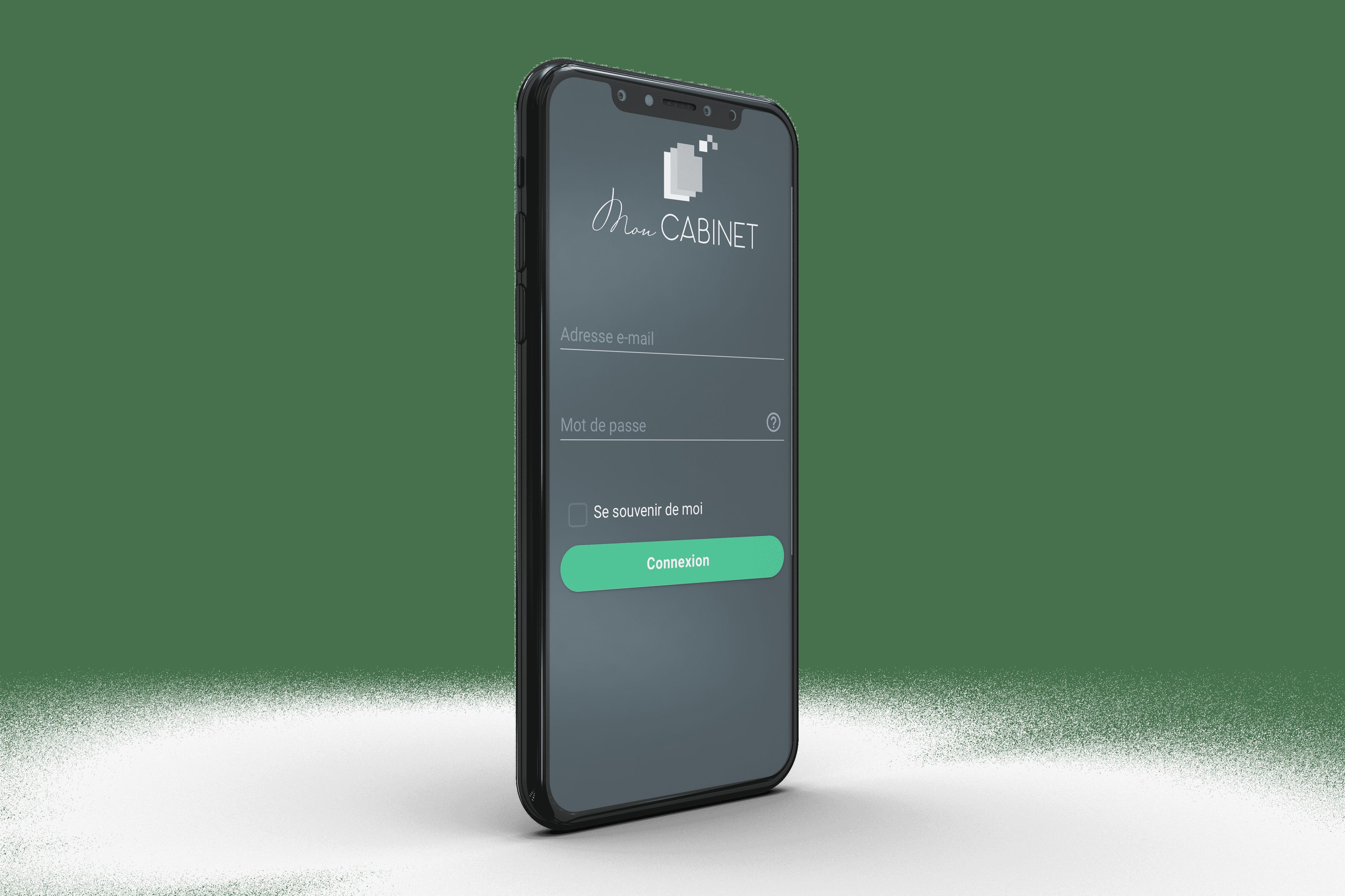 Mon Cabinet - consultation des services sur smartphone
